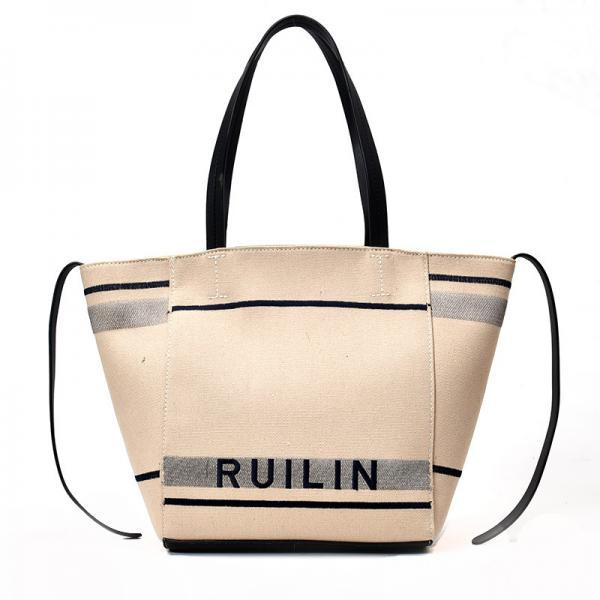Casual Solid Color Zipper Shoulder Bag