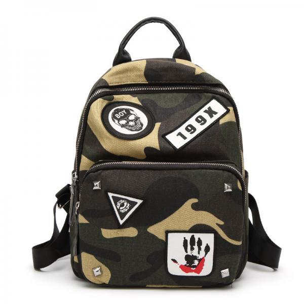 Trendy Camouflage Design Oxford Backpack