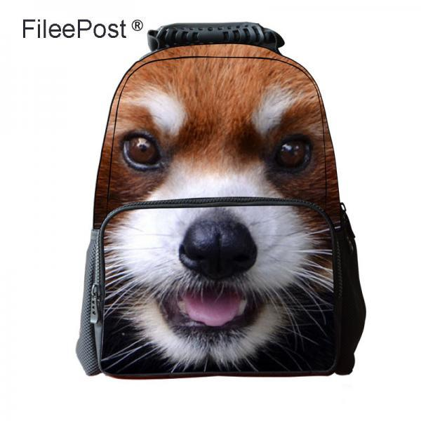 3D Animal Pattern Zipper Backpack