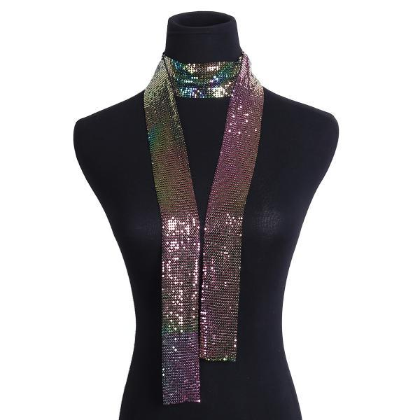 Fashion Super Flash Gradient Sequins Neck Scarf