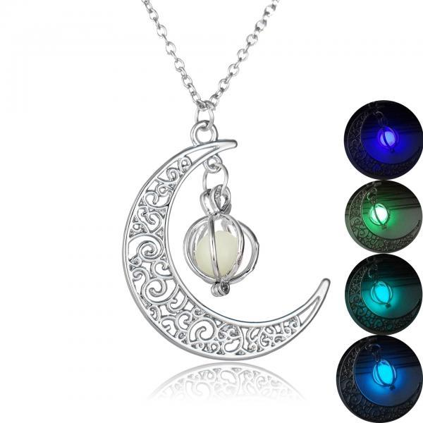 Moonlight Pumpkin Pendant Necklace