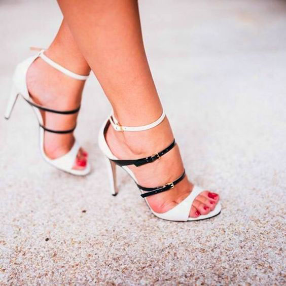 Simple Style Straps Open Toe High Stiletto High Heel Sandals