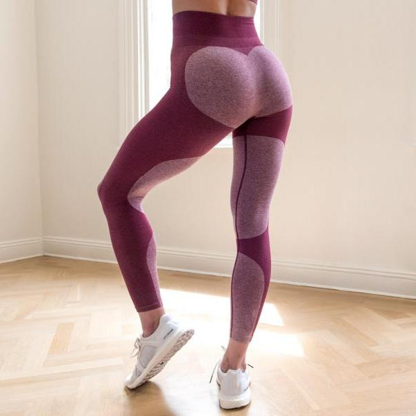 Sports High Waist Patchwork Slim Elastic Leggings Yoga Pants