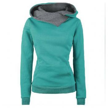 High Neck Long Sleeves Cotton Hooded