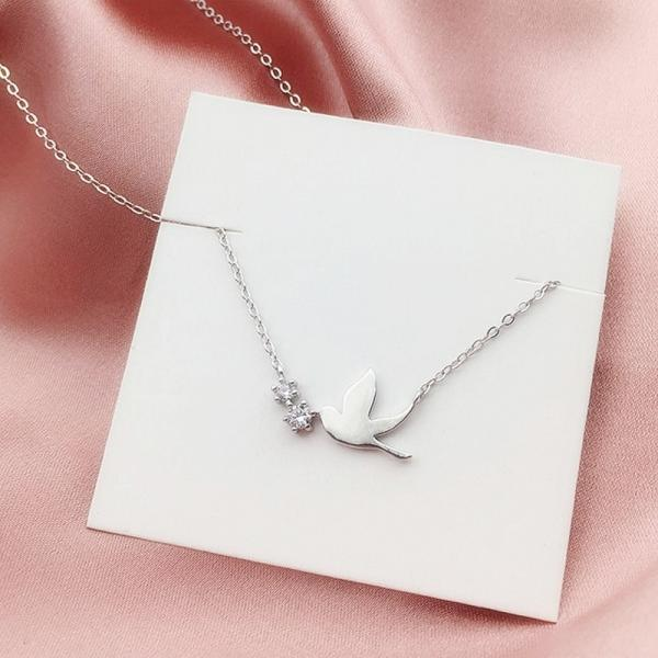 Punk Vintage Silver Color Swallow Necklaces Pendants For Women Gifts Statement Necklaces