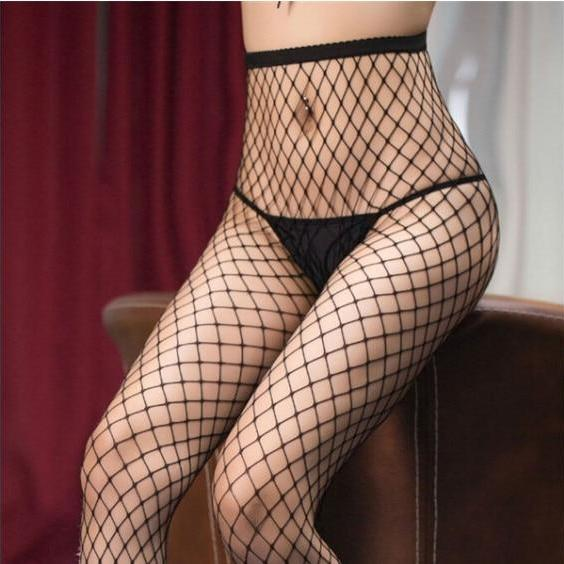 Brand New Open Women Stockings Plus Size Stockings Tights Pattern Sheer Fish Net Pantyhose Sexy Intimates Apparel