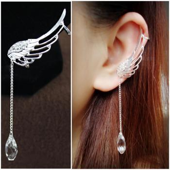Angel's Wings Hollow-out Clip Punk Earings