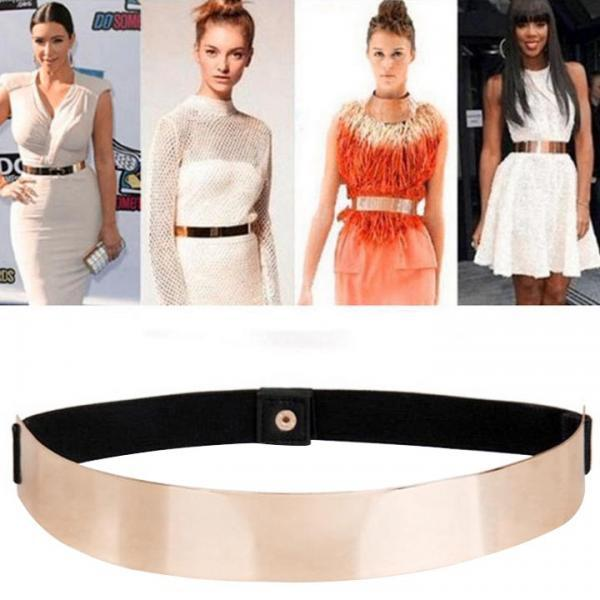 Women's Elastic Metal Waist Belt