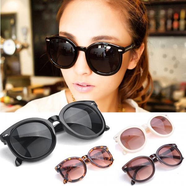 Retro Unisex Arrow Round Frame Sunglasses