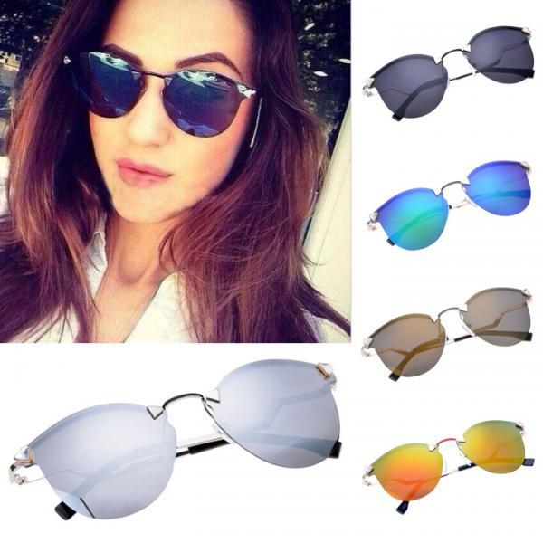 Unisex Frameless Reflector Sunglasses