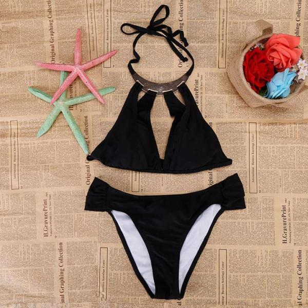 Cut Out Strap Push Up Bikini Set