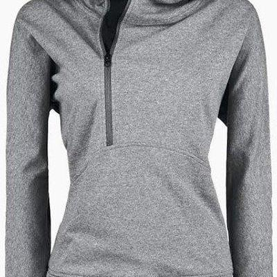 Trench Long Sleeves Zippered Womens Hoodie