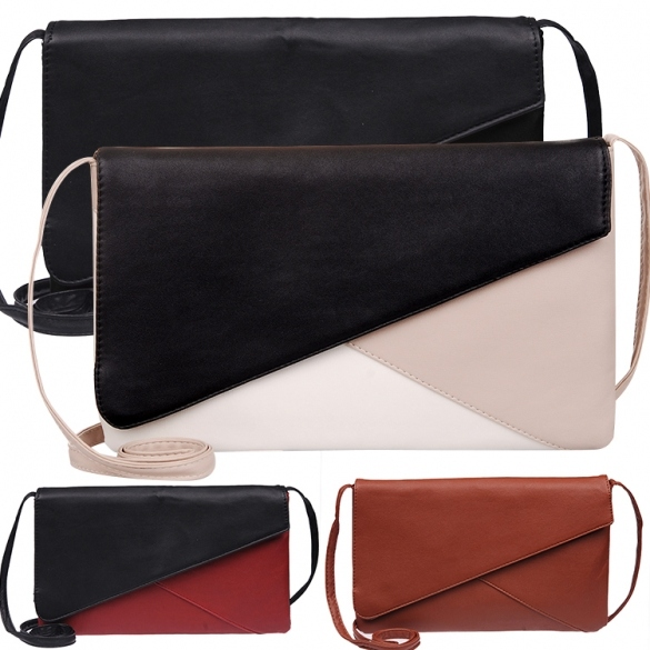 New Women Vintage Style Envelope Synthetic Leather Handbag Casual Shoulder Bag