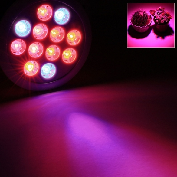 Homdox High Efficiency 12W Hydroponic LED Plant Grow Light Garden Greenhouse