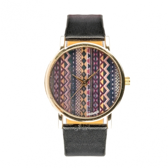 Fashion Stripe Wave Design Watch For Women Lady Alloy PU Leather Wrist Watch HOT
