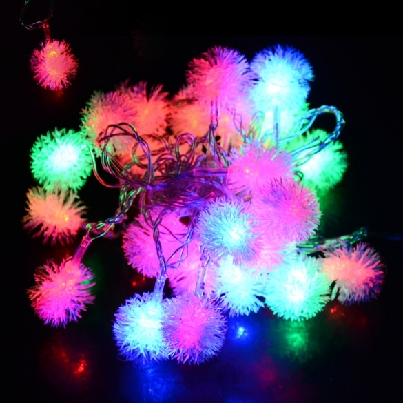 5m 28 Led Fuzzy Ball Strin..