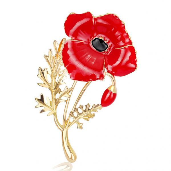 Beautiful Carnation Red High-grade Brooch