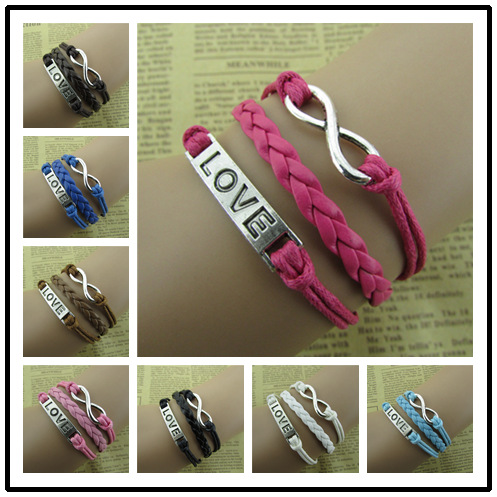 Simple LOVE 8 Hand Woven Bracelet