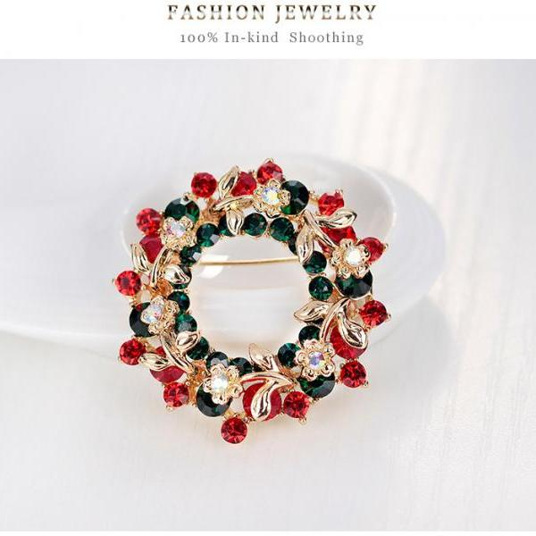 Sales of high-grade circular rosette Brooch