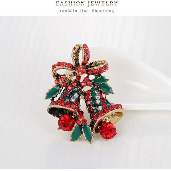 High-grade selling Christmas bell Brooch