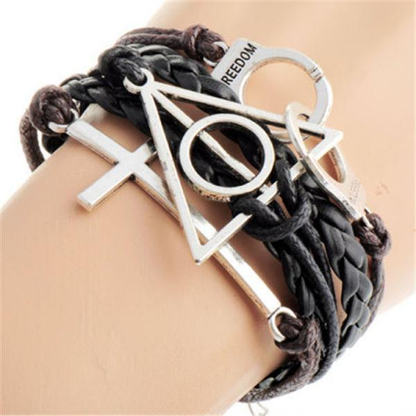 Harry Potter Handcuffs Cross Bracelet