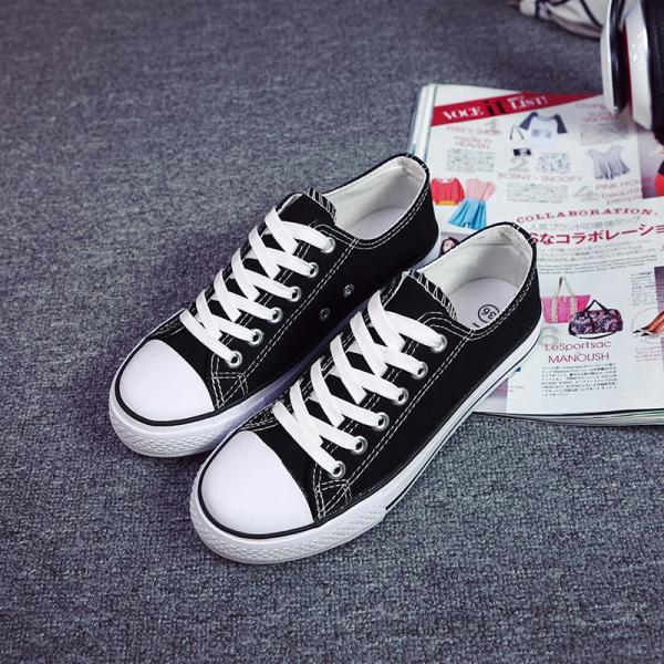 Classic Canvas Sneakers with Bold Stitching and Thick Rubber Welt