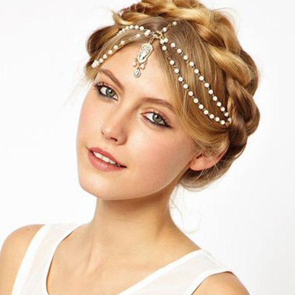 Gothic Crystal Luxury Pearl Hair Accessories