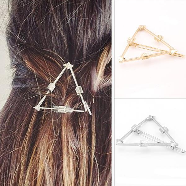 Geometric Triangular Arrow Hair Clips