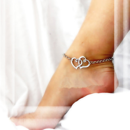 Lovely Double Heart Anklet