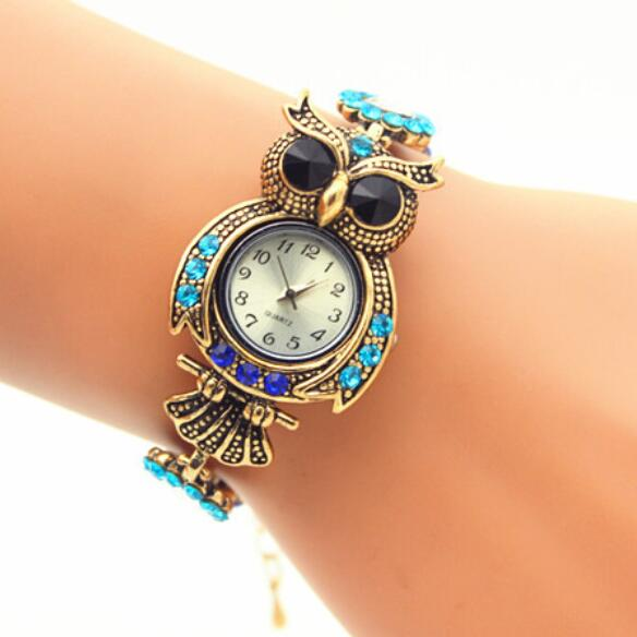 Retro Style Owl Circle Bracelet Watch