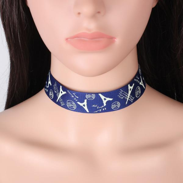 Vintage folk style ribbon lace embroidery Choker Necklace
