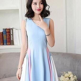 2017 New Summer Cotton And Linen Hollow Out Party Dress